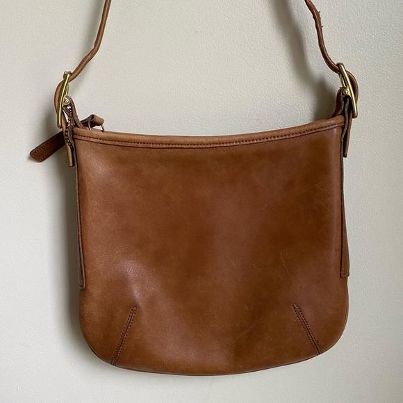 Coach Vintage Tan Slimline Leather Shoulder Bag